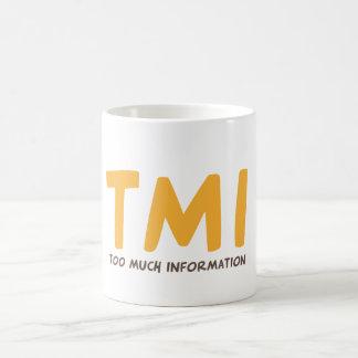 TMI - Demasiada informação Caneca De Café