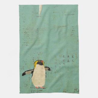 Toalha azul da lagoa do pinguim