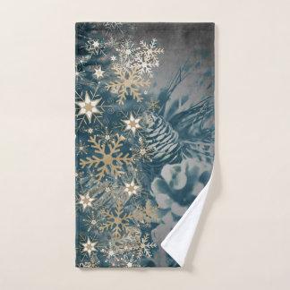 Toalha bonita do Natal com flocos de neve