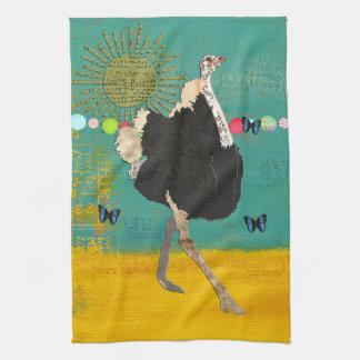 Toalha da cerceta da luz do sol da avestruz