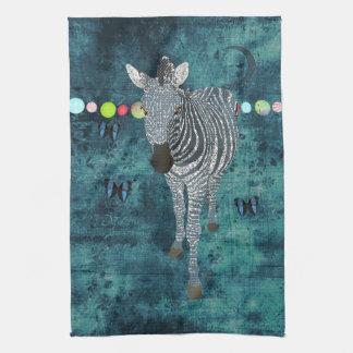 Toalha da meia-noite da zebra do luar