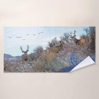 Toalha De Banho Arte dos animais selvagens do photoshop da