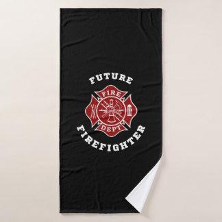 Toalha de banho futura do sapador-bombeiro