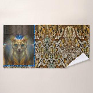Toalha De Banho Impressão animal do gato real