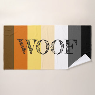 Toalha De Banho Woof impressionante da bandeira do orgulho do urso