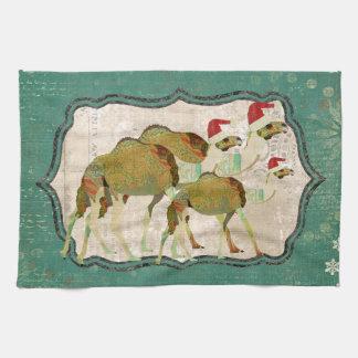 Toalha de cozinha sonhadora festiva dos camelos