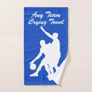 Toalha de grito do basquetebol suas equipe e cor