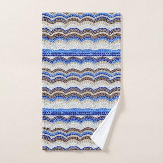 Toalha de mão azul do mosaico