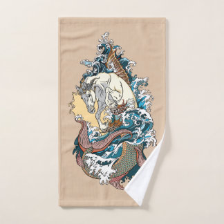 Toalha De Mão cavalo de mar mitológico