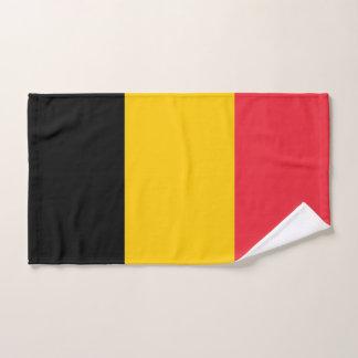 Toalha de mão com a bandeira de Bélgica