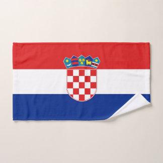 Toalha de mão com a bandeira de Croatia