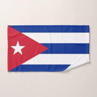 Toalha de mão com a bandeira de Cuba