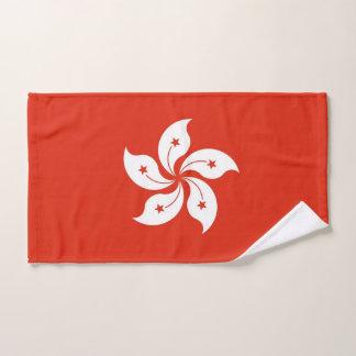 Toalha de mão com a bandeira de Hong Kong
