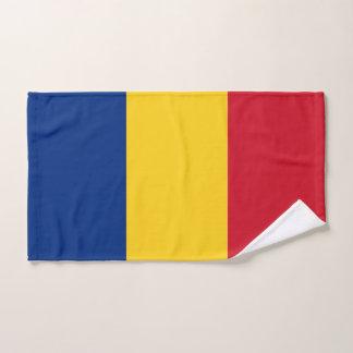 Toalha de mão com a bandeira de Romania