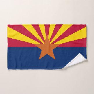 Toalha de mão com a bandeira do estado da arizona,