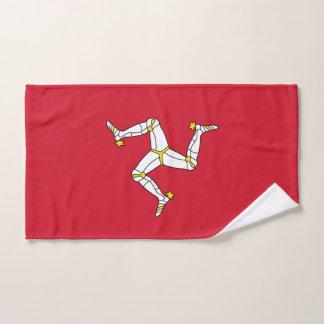 Toalha de mão com a ilha da bandeira do homem,