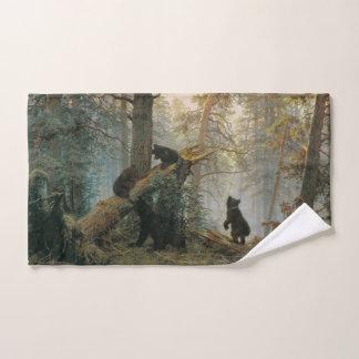 Toalha de mão da arte da floresta de Shiskin