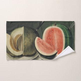 Toalha de mão da arte dos melões