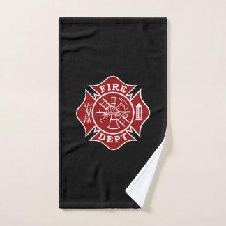 Toalha de mão da cruz maltesa do sapador-bombeiro
