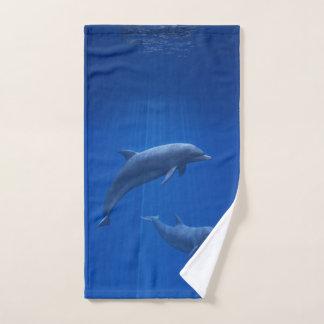 Toalha de mão do casal do golfinho