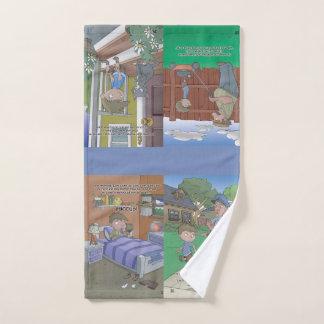 Toalha de mão do livro do soluço - 4 imagens