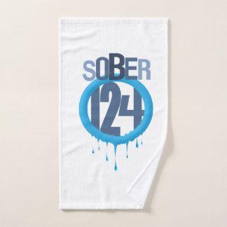 Toalha de mão do logotipo Sober124