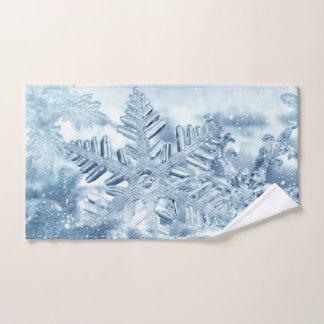Toalha de mão dos cristais do floco de neve