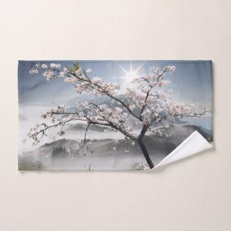 Toalha de mão japonesa da paisagem da cereja