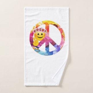 Toalha De Mão Sinal de paz, arte da aguarela do Emoticon do