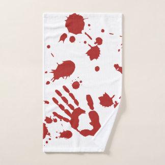 Toalha De Mão Spatter sangrento o Dia das Bruxas do impressão da