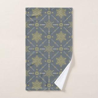 Toalha De Mão Teste padrão do Natal dos flocos de neve das