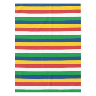 Toalha De Mesa A bandeira de Seychelles listra linhas teste