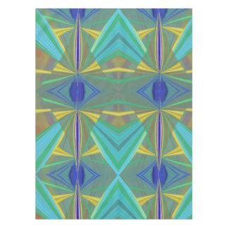 Toalha De Mesa Abstrato da chama azul 2 nos azuis