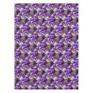 Toalha De Mesa Abstrato roxo, violeta e malva da íris