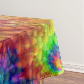 Toalha De Mesa Algodão colorido do céu da tintura do laço