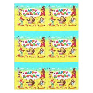 Toalha De Mesa Amigos da floresta do feliz aniversario