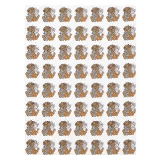 Toalha De Mesa Anjo do urso com gatinhos