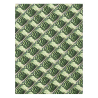 Toalha De Mesa Arbusto decorativo do caracol de jardim do verde