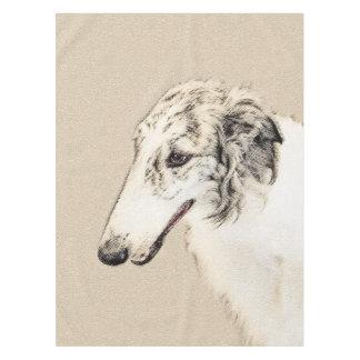 Toalha De Mesa Arte original de pintura do cão do Borzoi (rajado