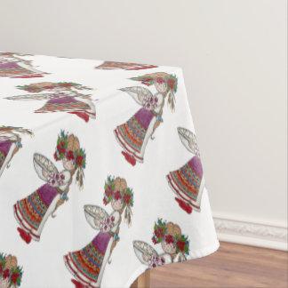 Toalha De Mesa Arte popular do ucraniano da menina de Perogie