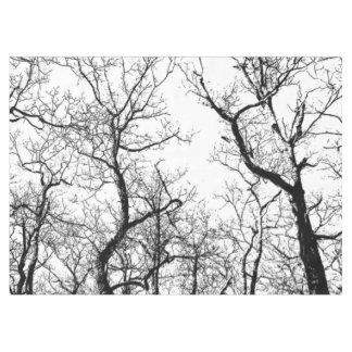 Toalha De Mesa Árvore abstrata preto e branco do Tablecloth