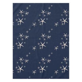 Toalha De Mesa Azuis marinhos brancos da estrela do mar tropicais