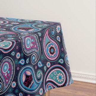 Toalha De Mesa Azul de Paisley Patern, cerceta, elegante violeta