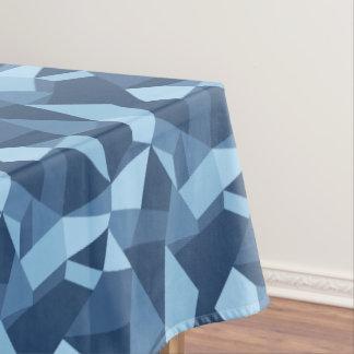 Toalha De Mesa Azul louco abstrato geométrico dos retalhos