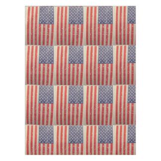 Toalha De Mesa Bandeira americana resistida, afligida dos EUA