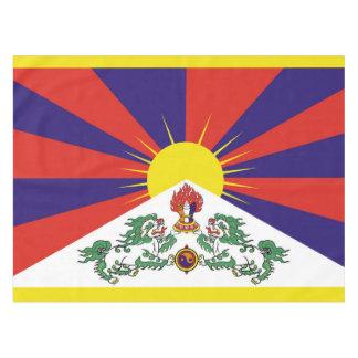 Toalha De Mesa Bandeira da bandeira do leão de Tibet ou de neve