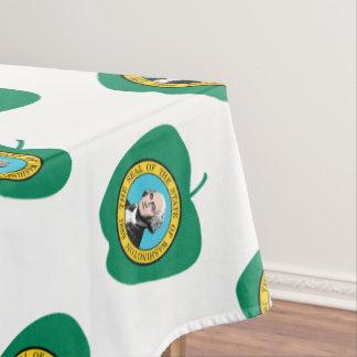 Toalha De Mesa Bandeira verde do estado de Apple Washington do