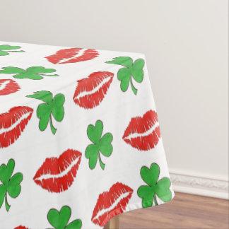 Toalha De Mesa Beije-me que eu sou o dia de St Patrick irlandês