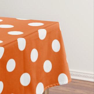 Toalha De Mesa Bolinhas brancas na tangerina selvagem