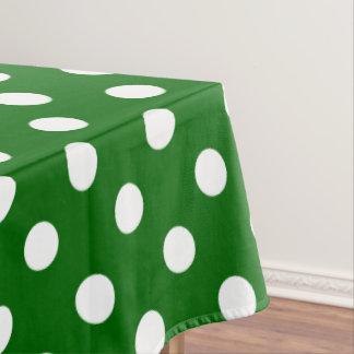 Toalha De Mesa Bolinhas brancas no verde dos dias escolares